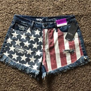American Flag mossimo Jean shorts